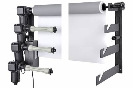 Motorized rollers for 4 backgrounds